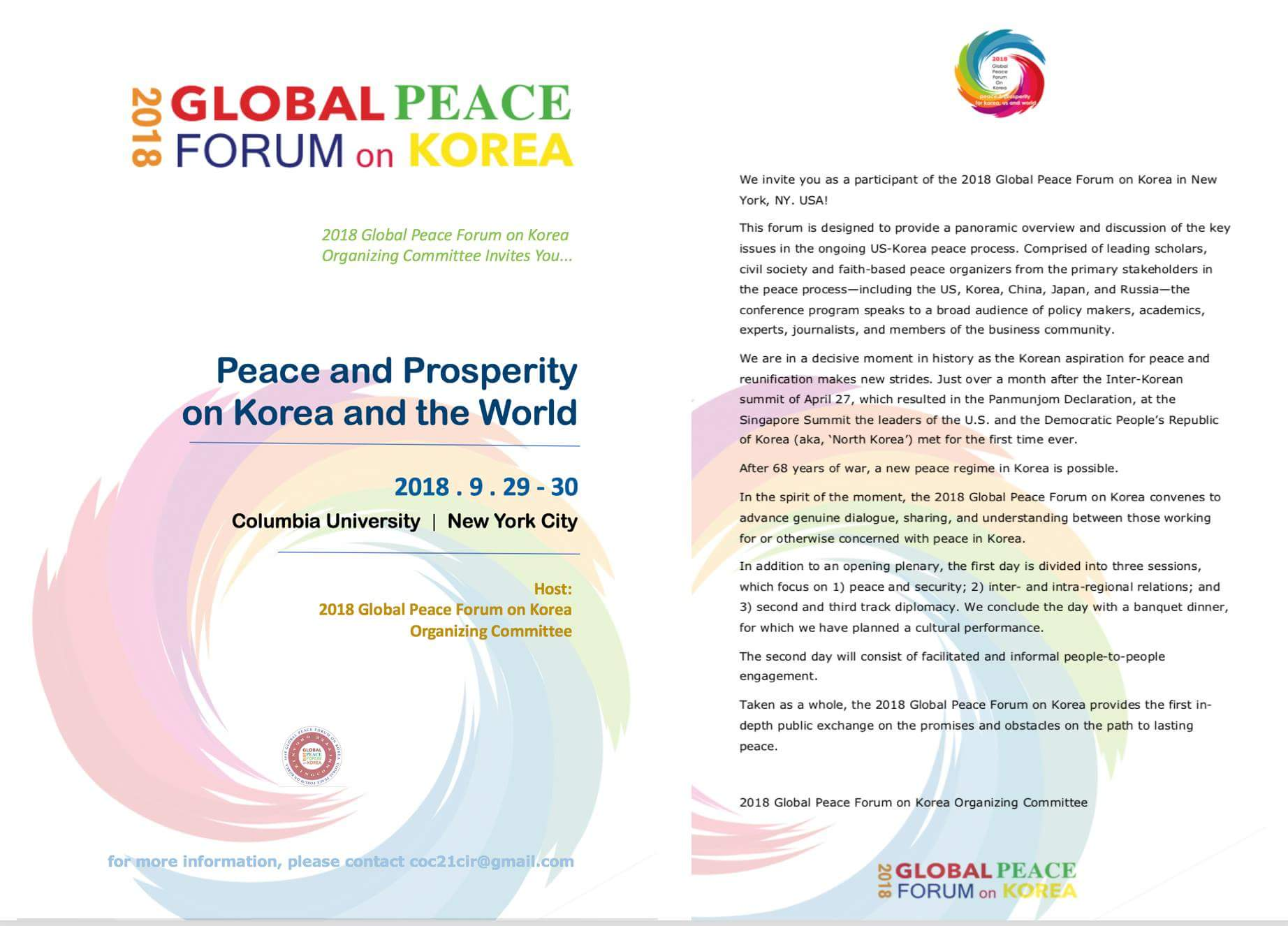 Support bold moves towards peace and reunification in Korea