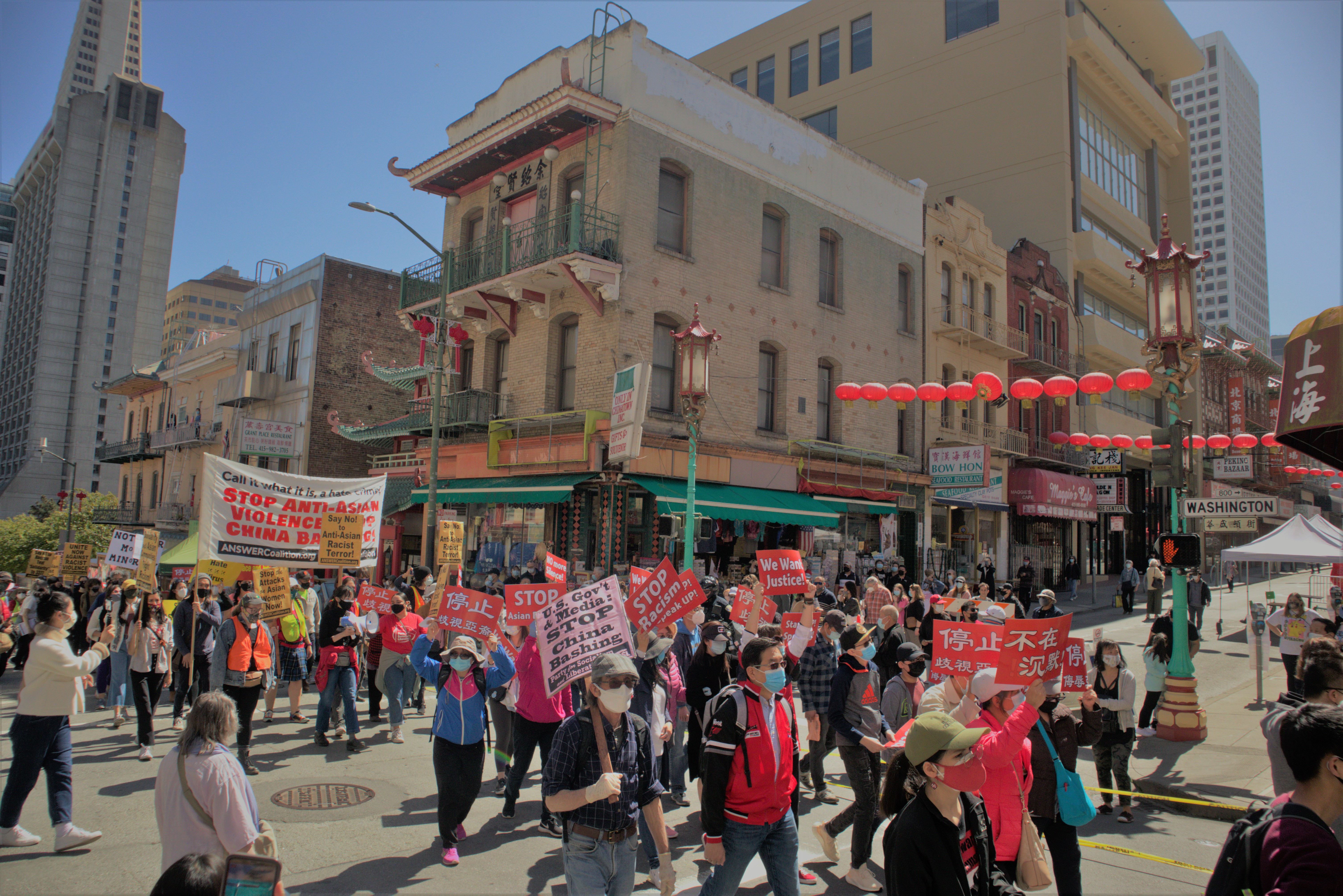 Around 3000 people rallied against anti-Asian hate in San Francisco on March 27.