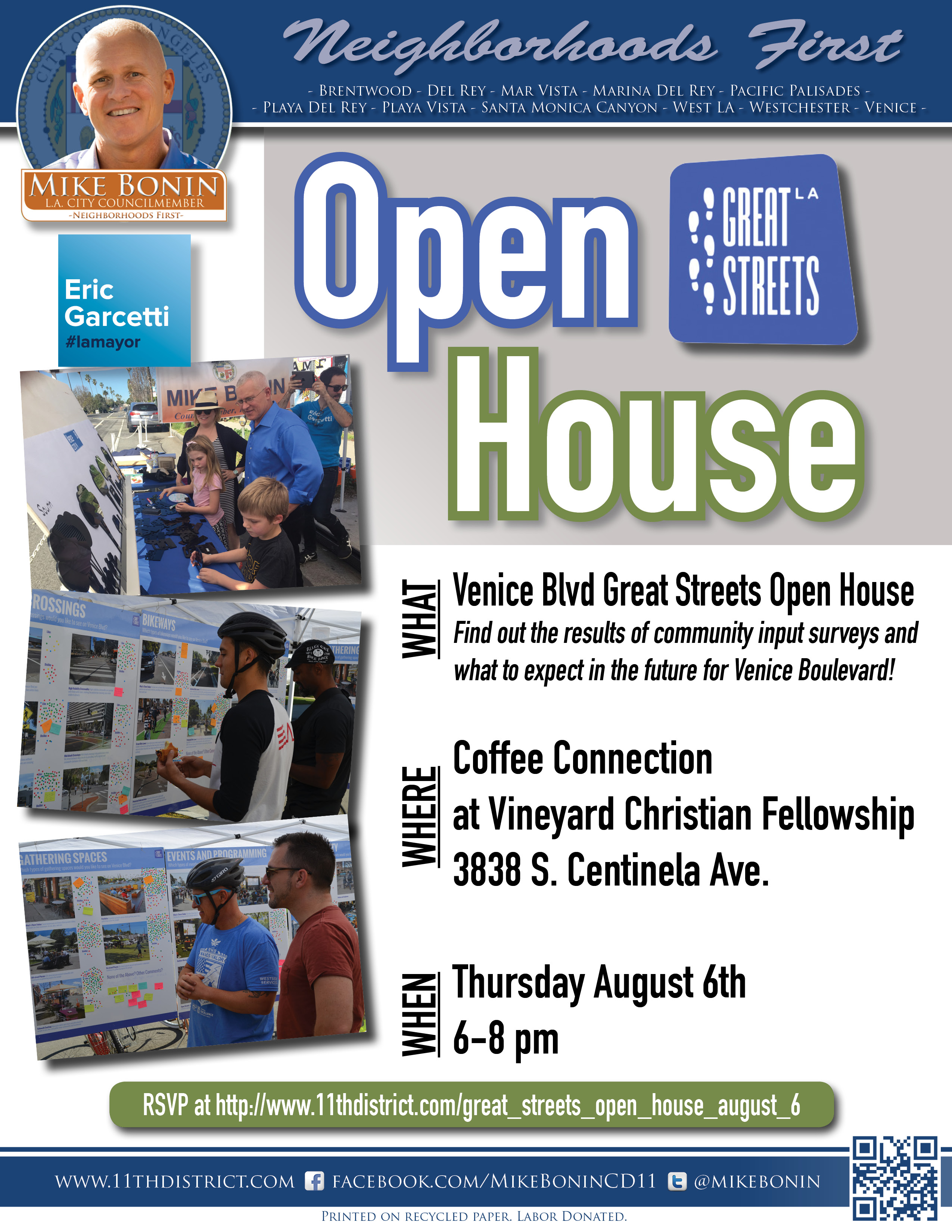 Great Streets Open House:  Concept Reveal @ Coffee Connection | Los Angeles | California | United States