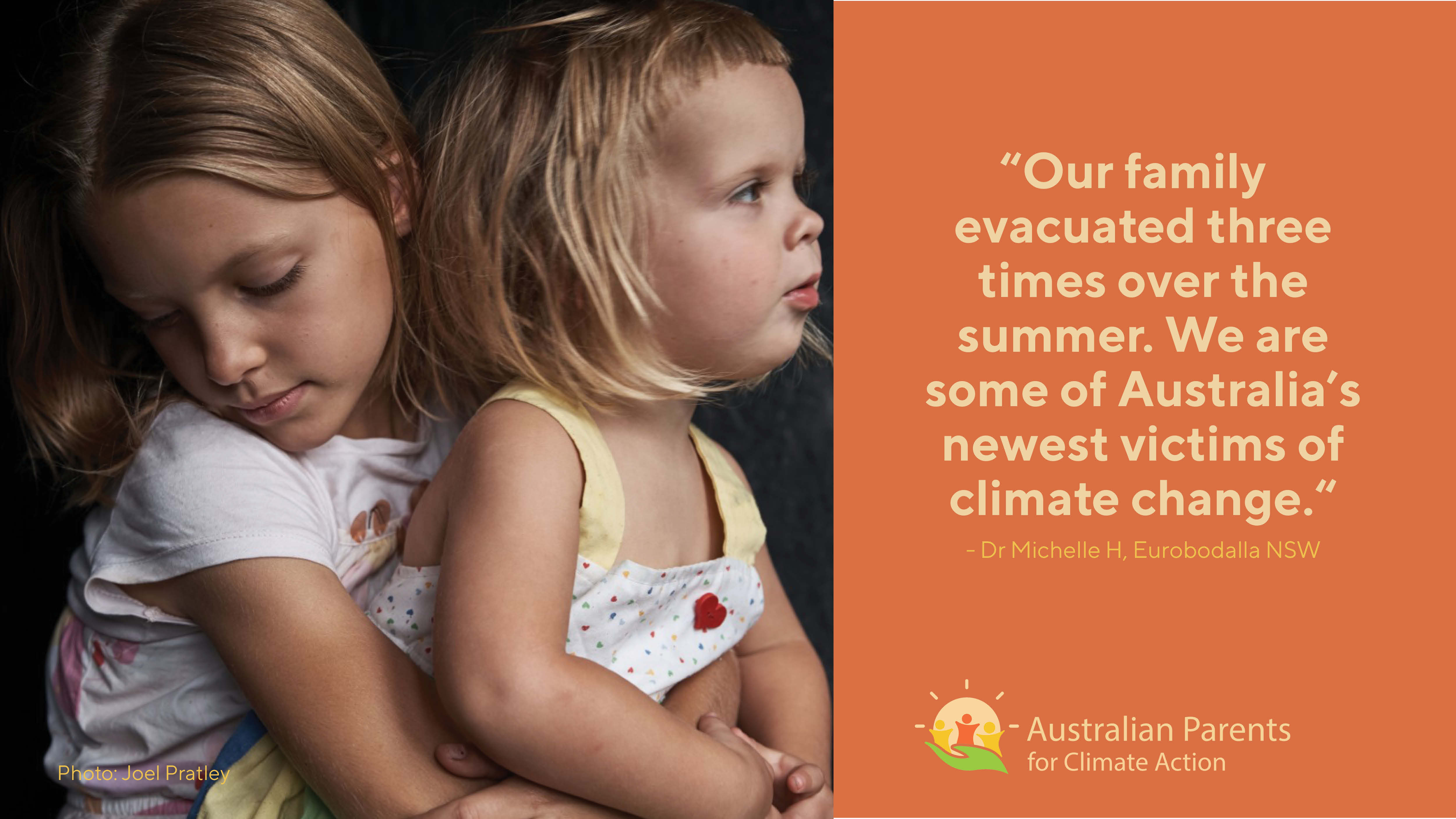 Young bushfire evacuees - some of Australia's newest victims of climate change
