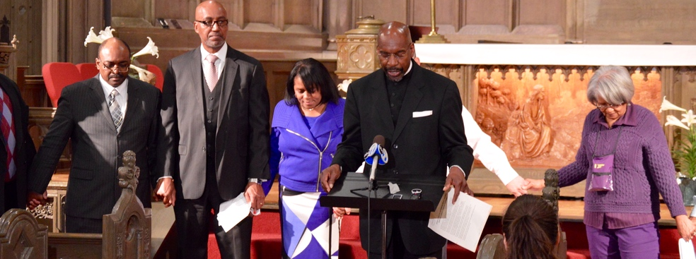 State workers prayer and press conference April 2016