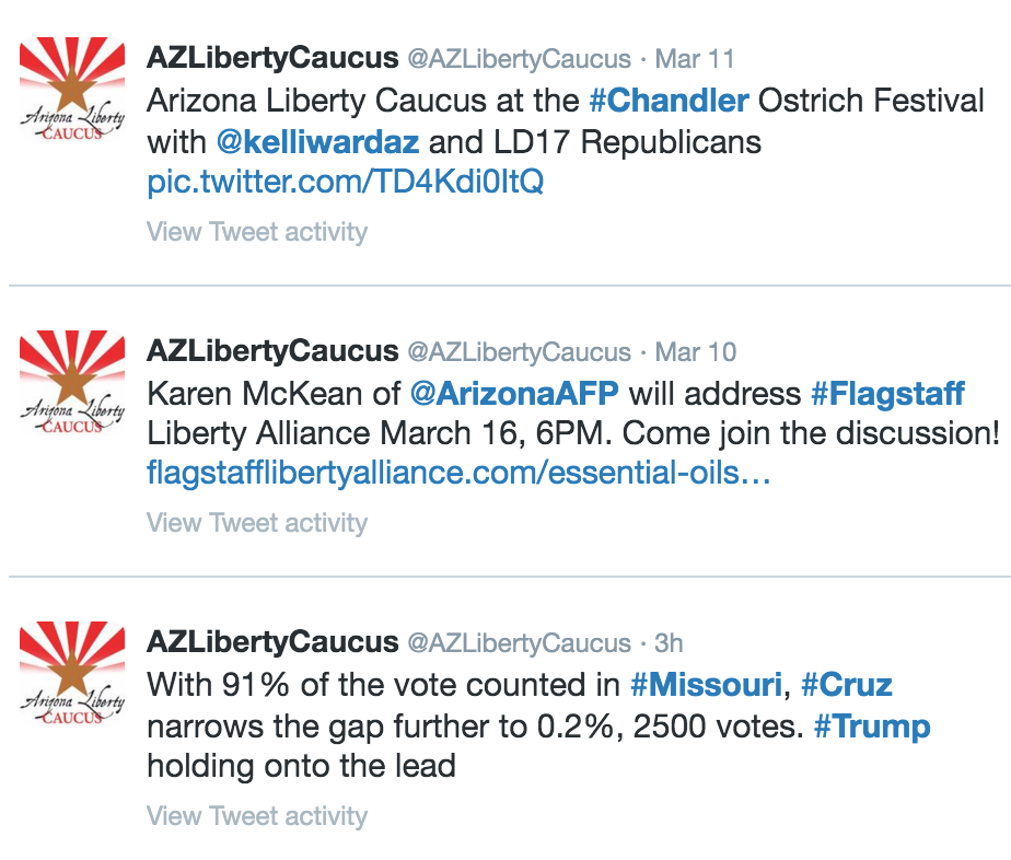 Top Arizona Liberty Caucus Tweets