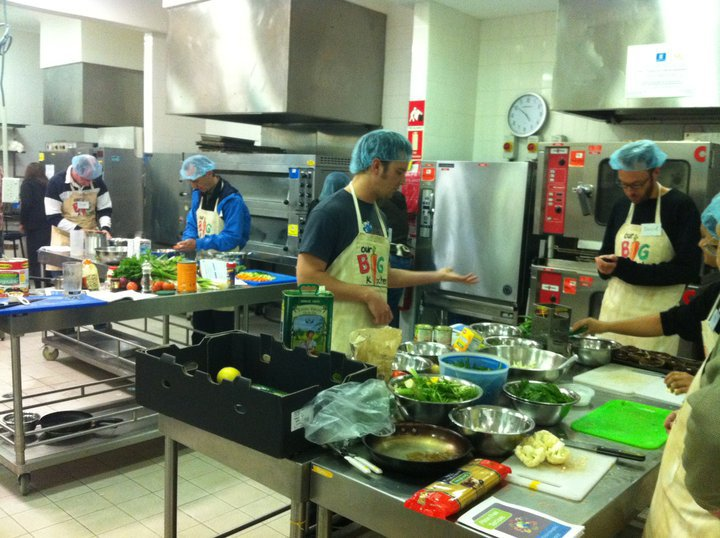Our Big Kitchen vegetarian cooking workshop
