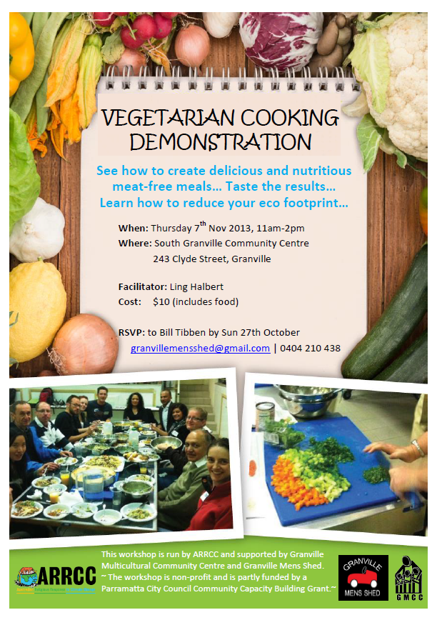 Cooking workshop Mens Shed Nov13