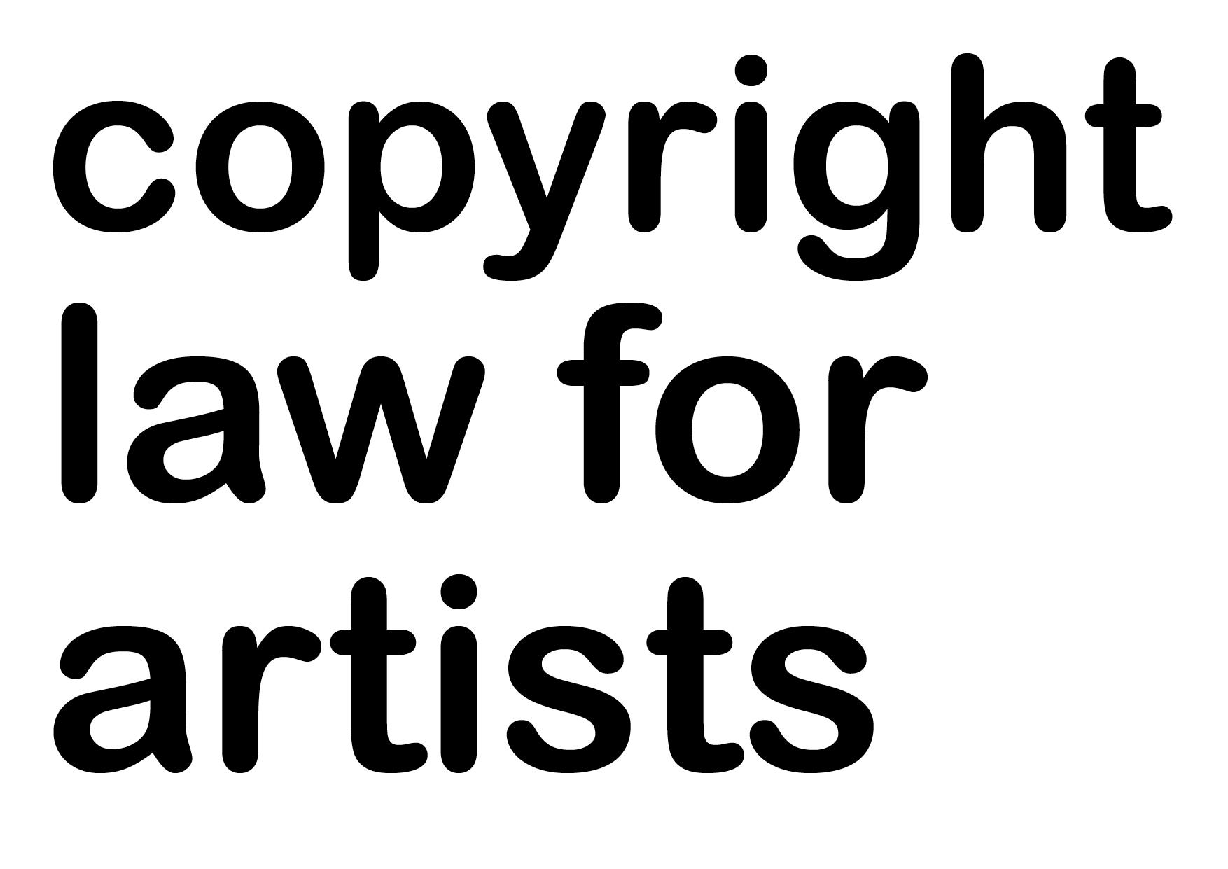Copyright Law for Artists: Webinar