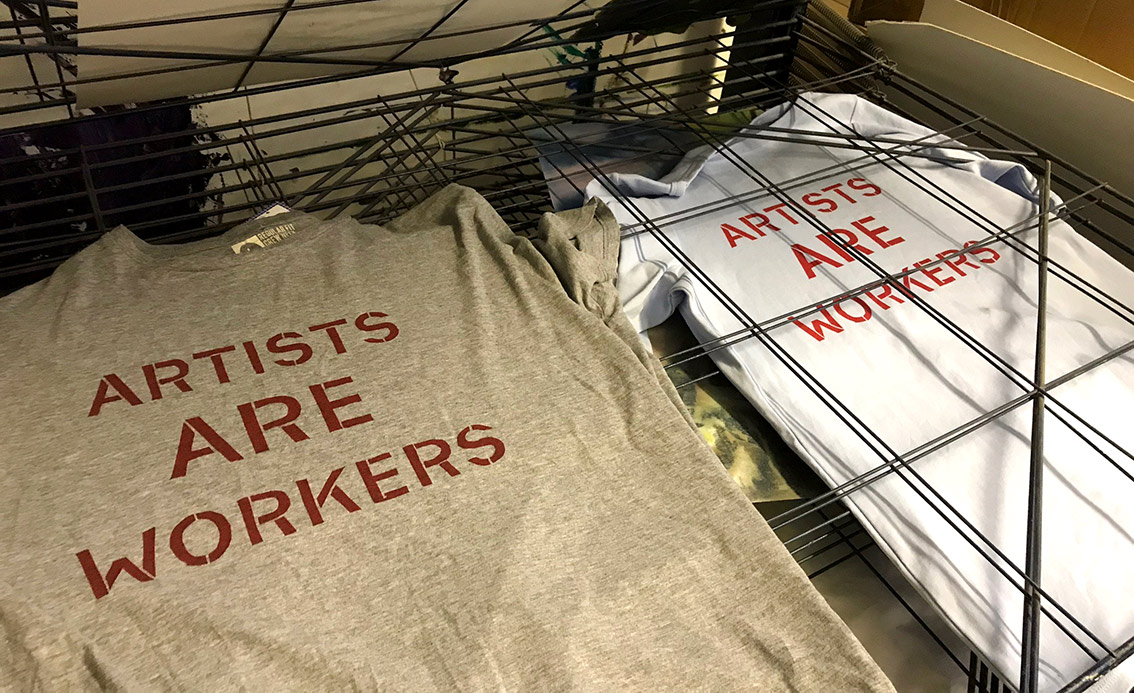 Artists Are Workers T-shirts