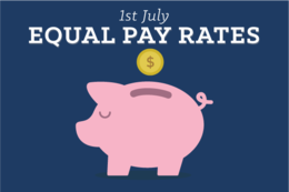 Equal Pay Rates July 2018