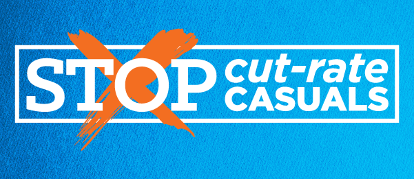 Cut-Rate Casuals - Australian Services Union NSW & ACT Branch