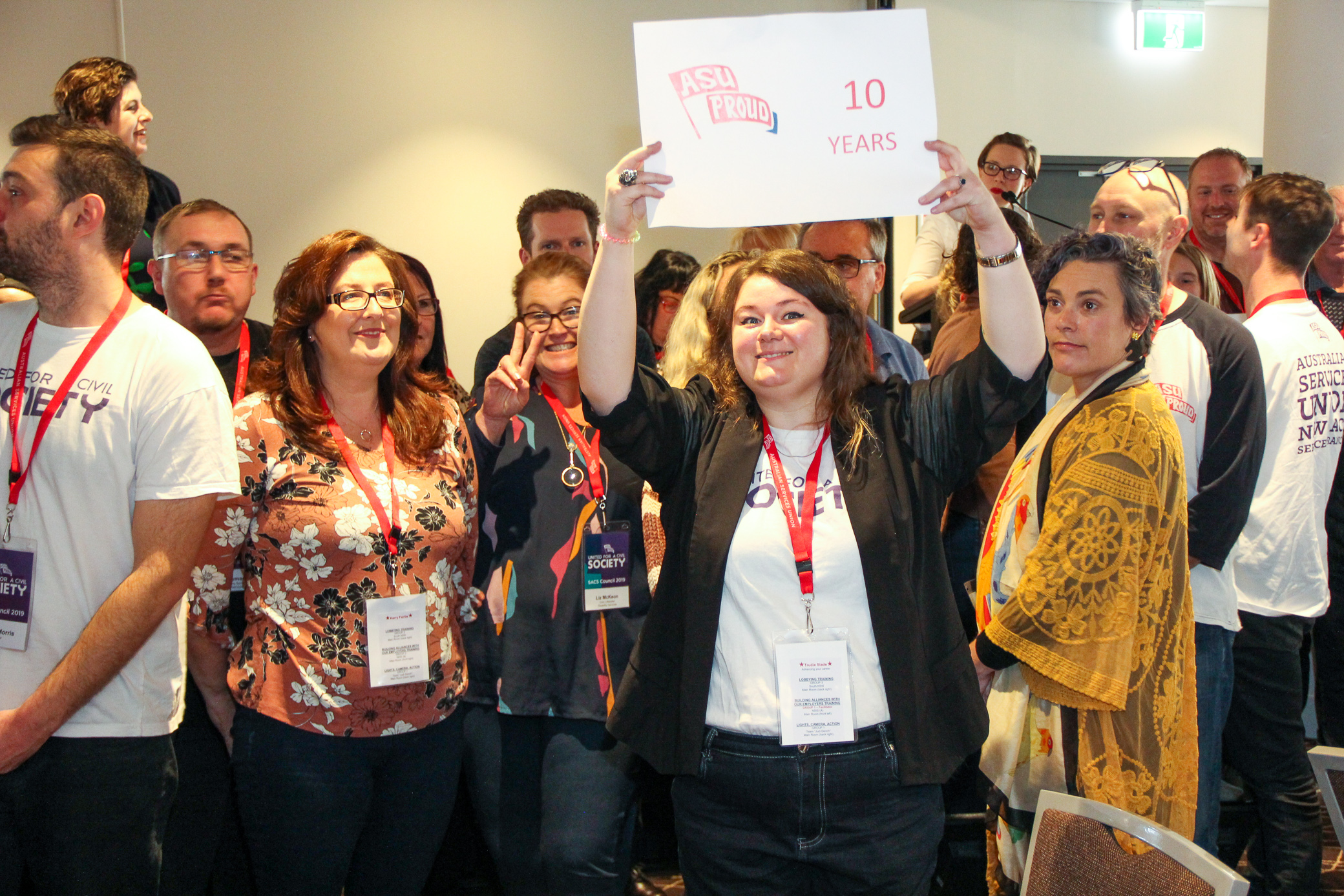 Union Members participate in activity at Community Sector Conference