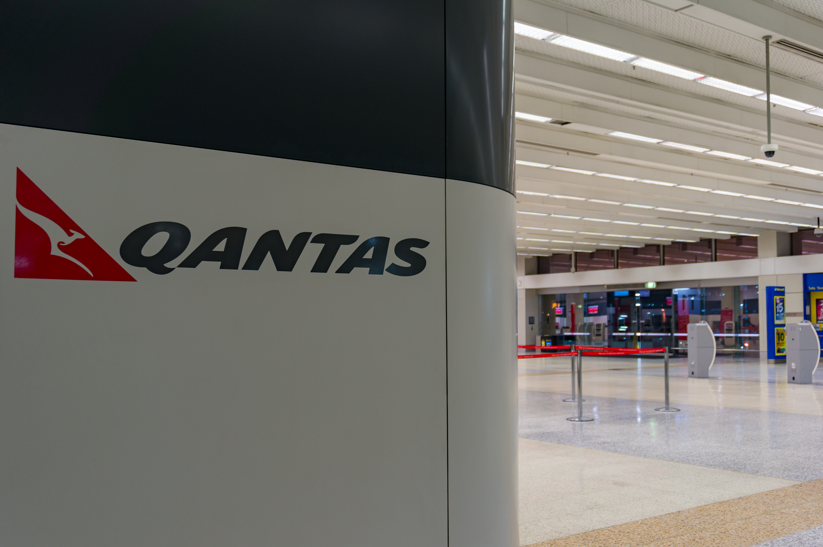 Qantas airport staff