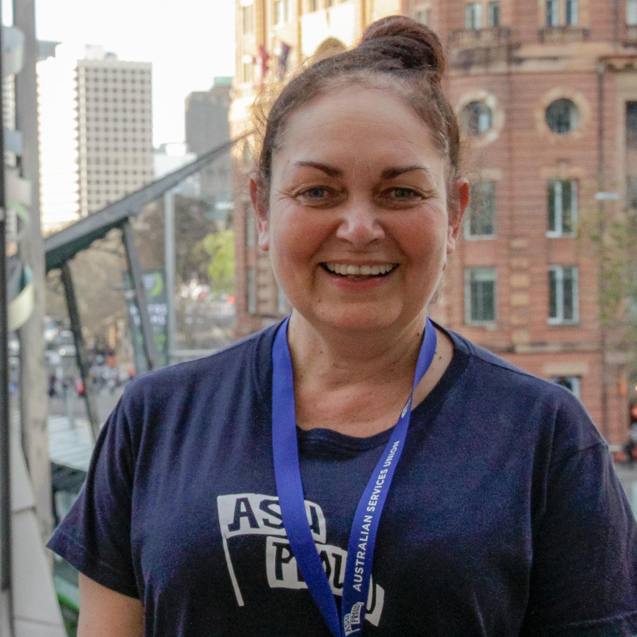 Julie Perkins won the Fran Tierney Award