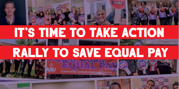 It's time to take action: rally to Save Equal Pay