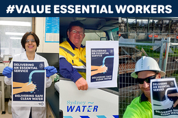 Sydney Water Members Delivering an Essential Service