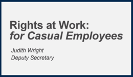 Your Rights as a Casual – working in community and disability