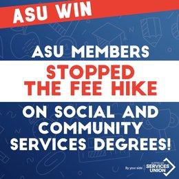 Union members stop degree fee hike