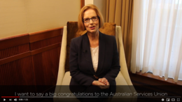 Congratulations from former PM Julia Gillard