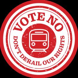 NSW Trains and Sydney Trains: Vote No
