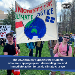 ASU Support for School Strike 4 Climate