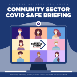 Community Sector Covid-Safe Briefing