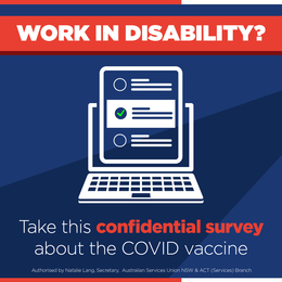 Disability Workers: COVID VACCINE Survey