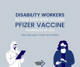 Disability Workers can now access priority Pfizer