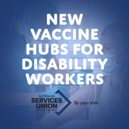 Vaccine Hubs for Disability Workers