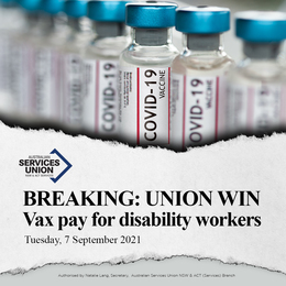 Vax Pay for Disability Workers in LGAS of Concern