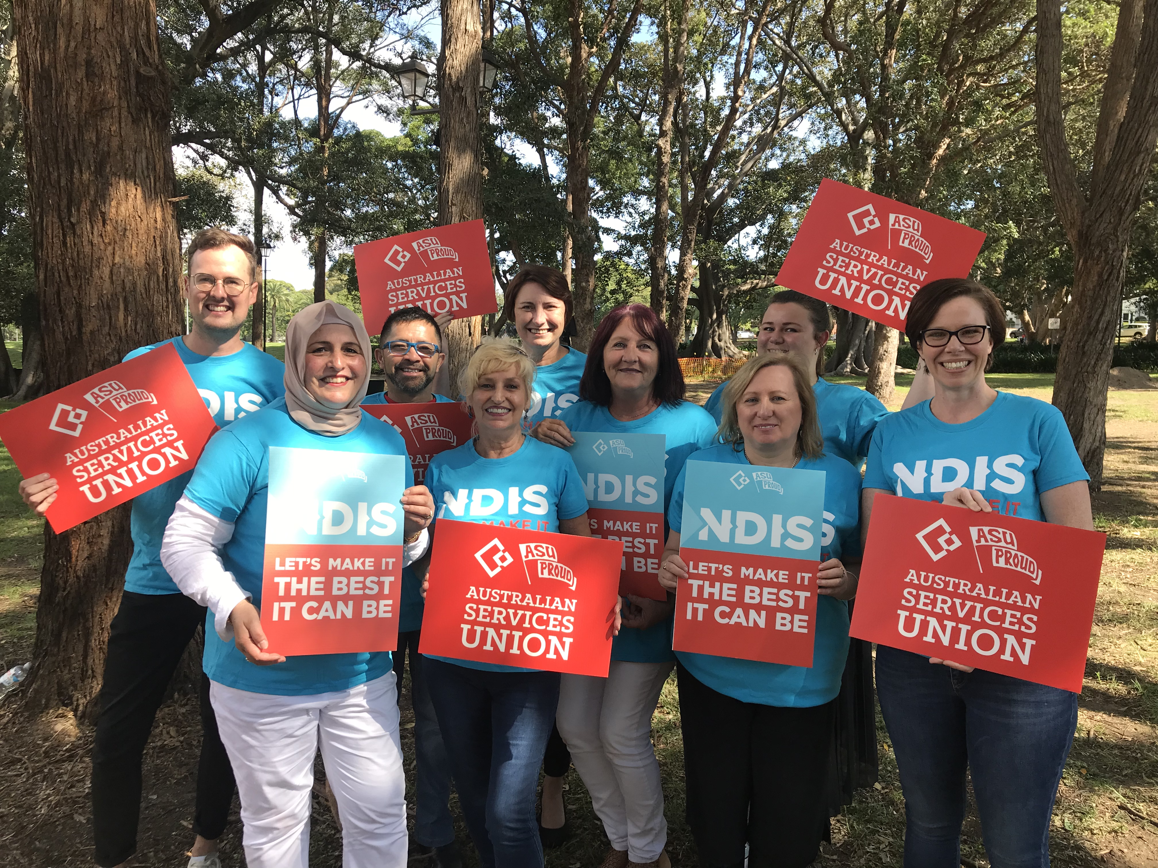 Union Members campaigning for the best NDIS