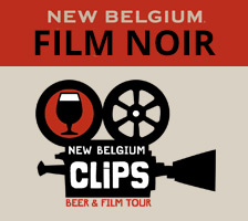 Image: New Belgium Film Noir label | CLiPS Beer & Film Tour