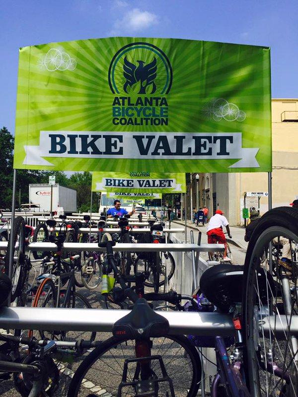 Photo by @DecaturBookFest via Twitter: ABC Bike Valet at AJC Decatur Book Festival