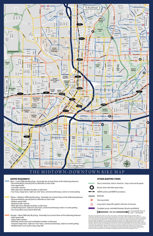Maps routes Atlanta Bicycle Coalition