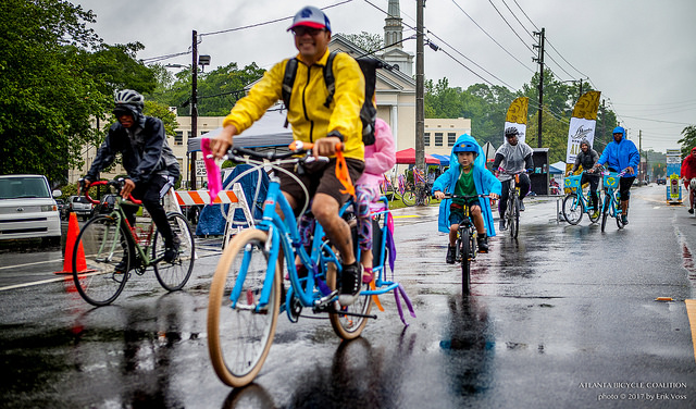 Photo: Adults and kids on bicycles @ Atlanta Streets Alive - Southside 2017