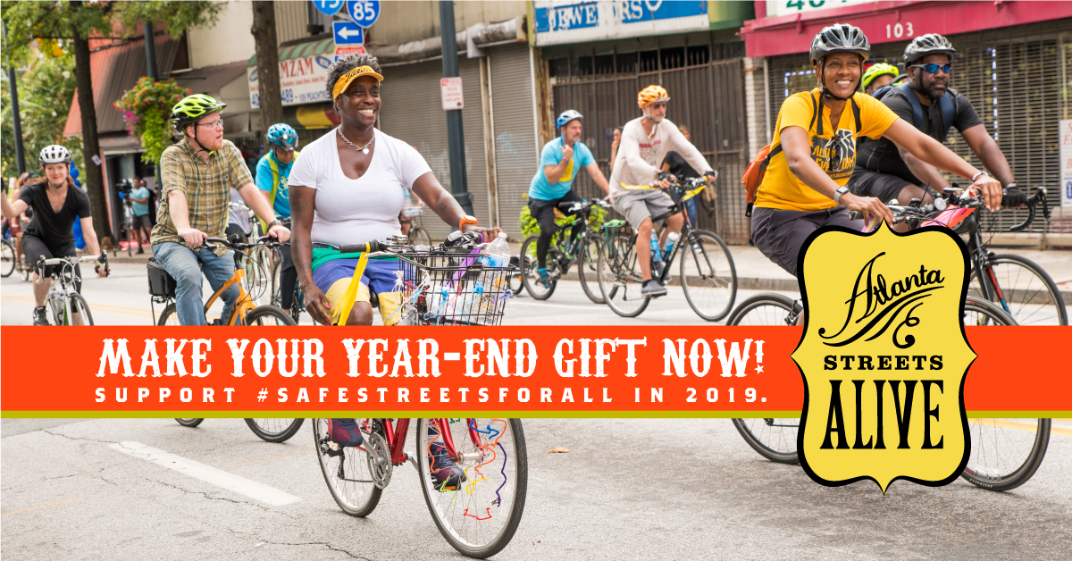 Image: Support #SafeStreetsforAll in 2019. Make your year-end gift now!