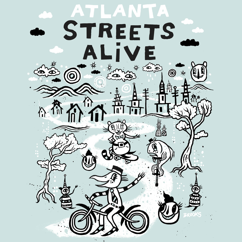 2018 Atlanta Streets Alive x BlackCatTips t-shirt