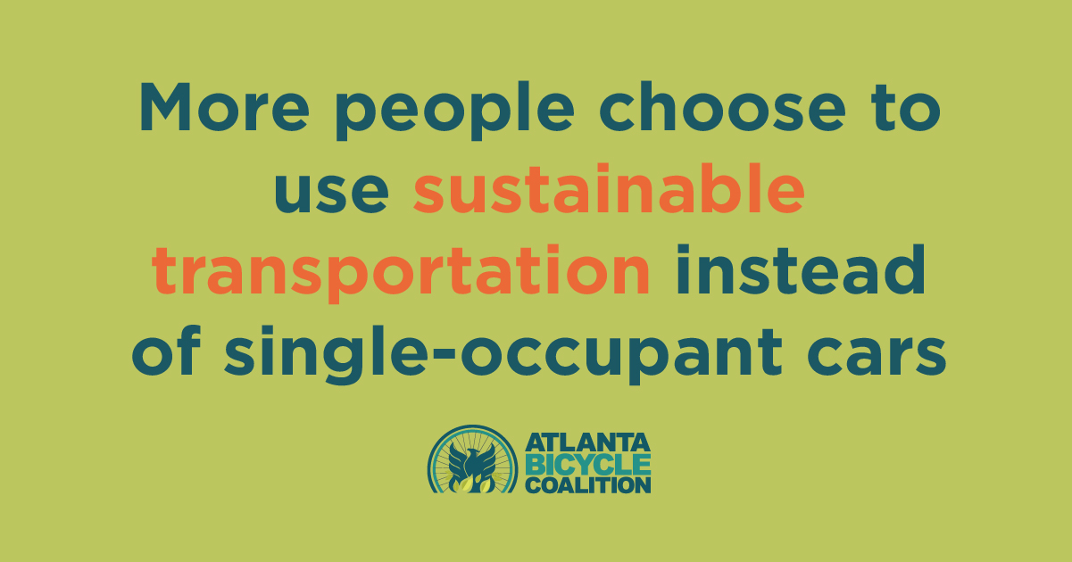 Graphic: More people choose to use sustainable transportation instead of single occupant cars