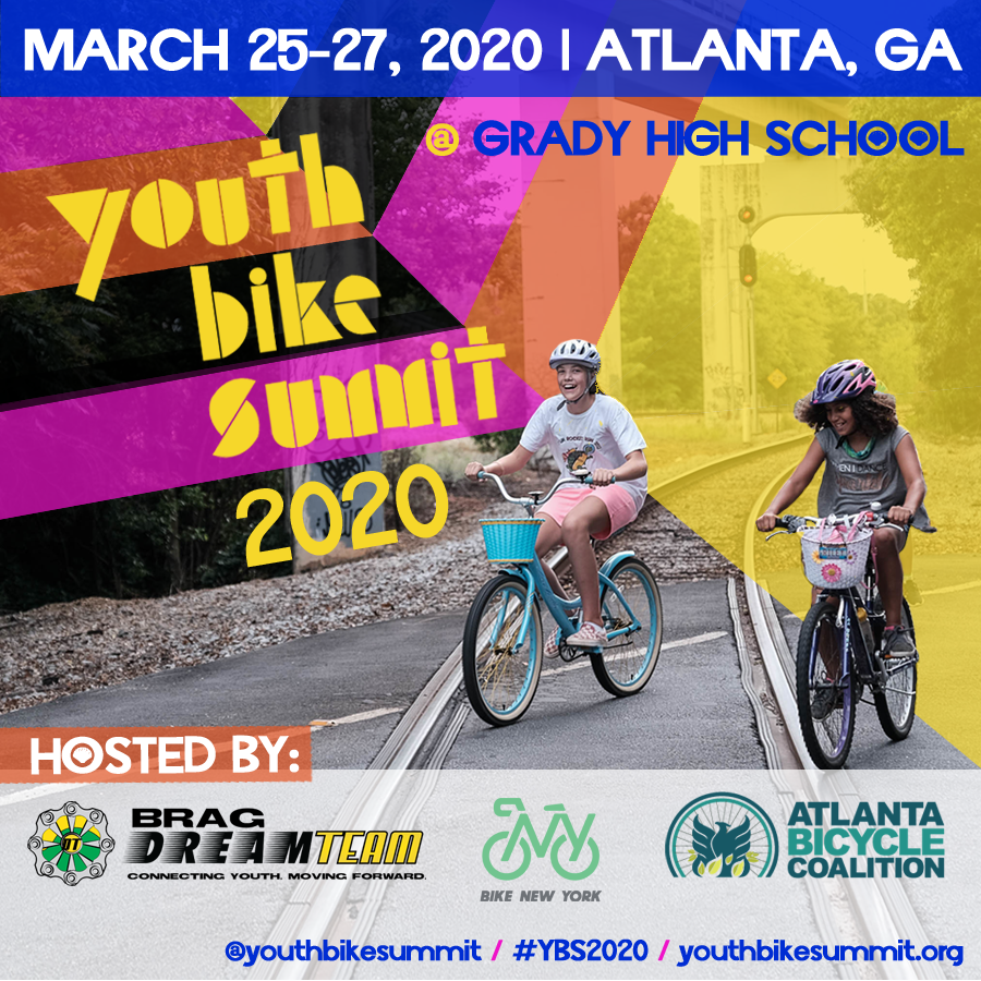 flyer for youth bike summit 2020