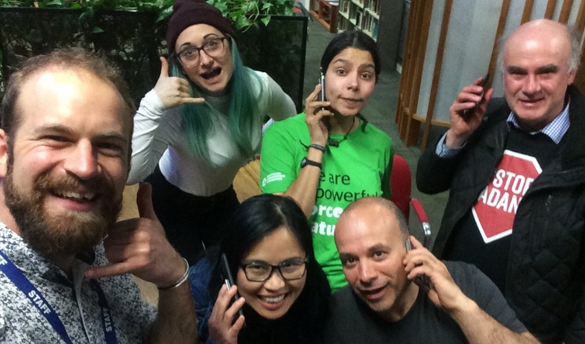 Second phonebank in the Melbourne office