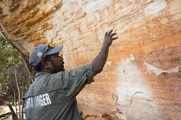 Ranger Roderick Doughboy at Laura Sandstone Escarpments