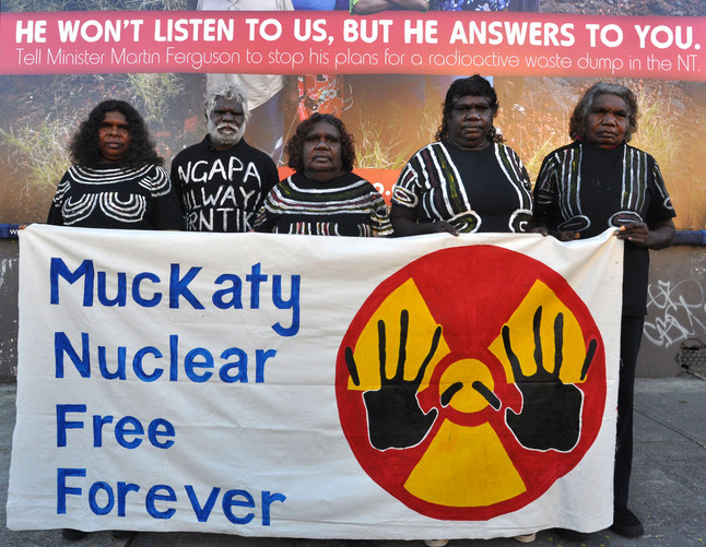 Muckaty Tradiditonal Owners fought against a plan to dump waste on their country.