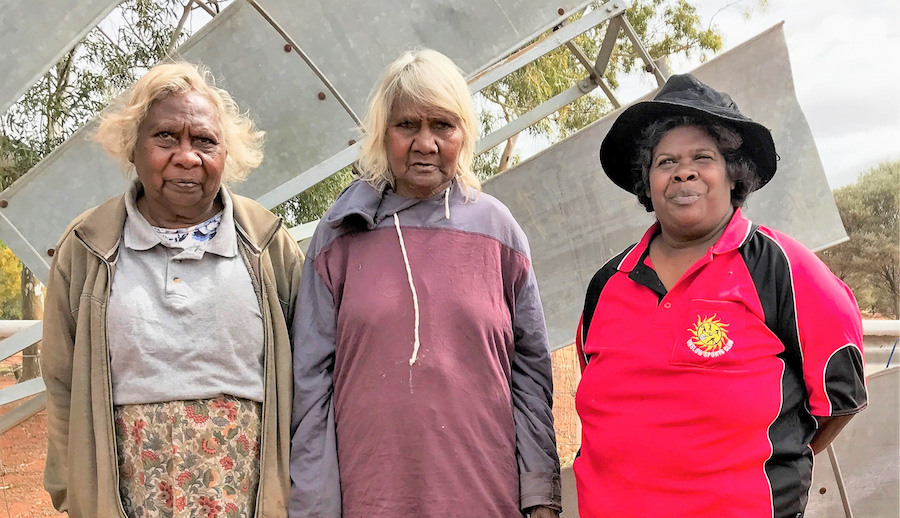 Three women on country