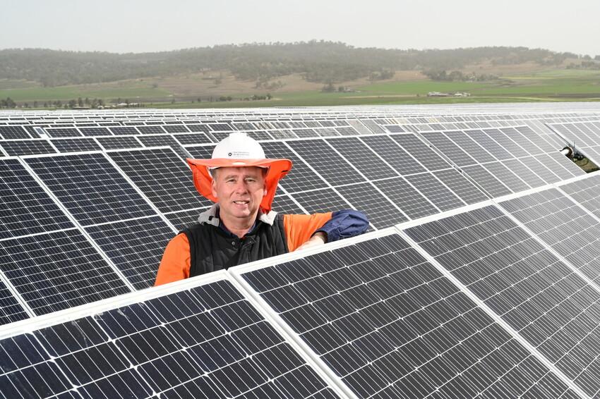 Don Drane, Facility Manager at Warwick Solar Farm, Queensland. Photo: Antje Dun