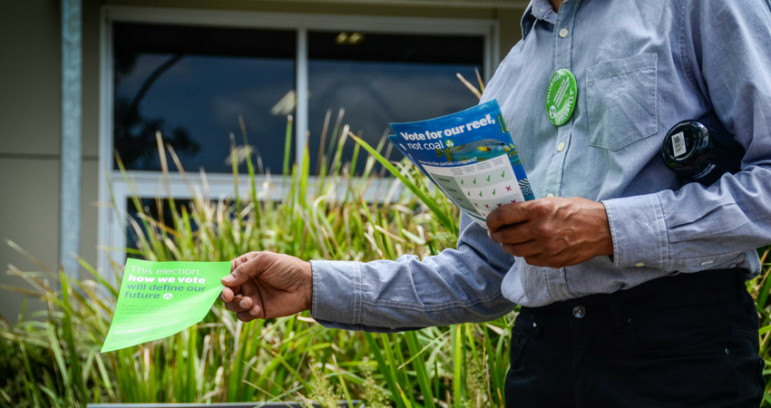 ACF supporters handed our lots of scorecards on election day