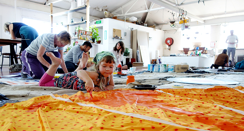 Banner painting. Photo: Asha Bee Abrahams