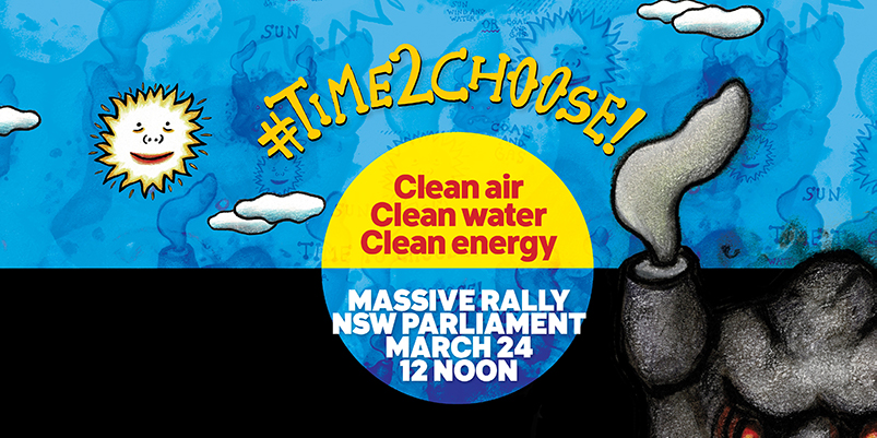 Banner for #TimeToChoose Rally