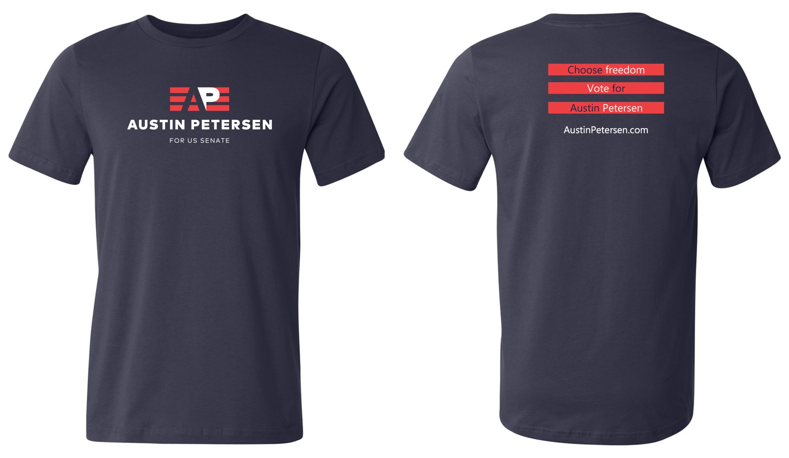 Official Campaign T-Shirt (Navy) - $30