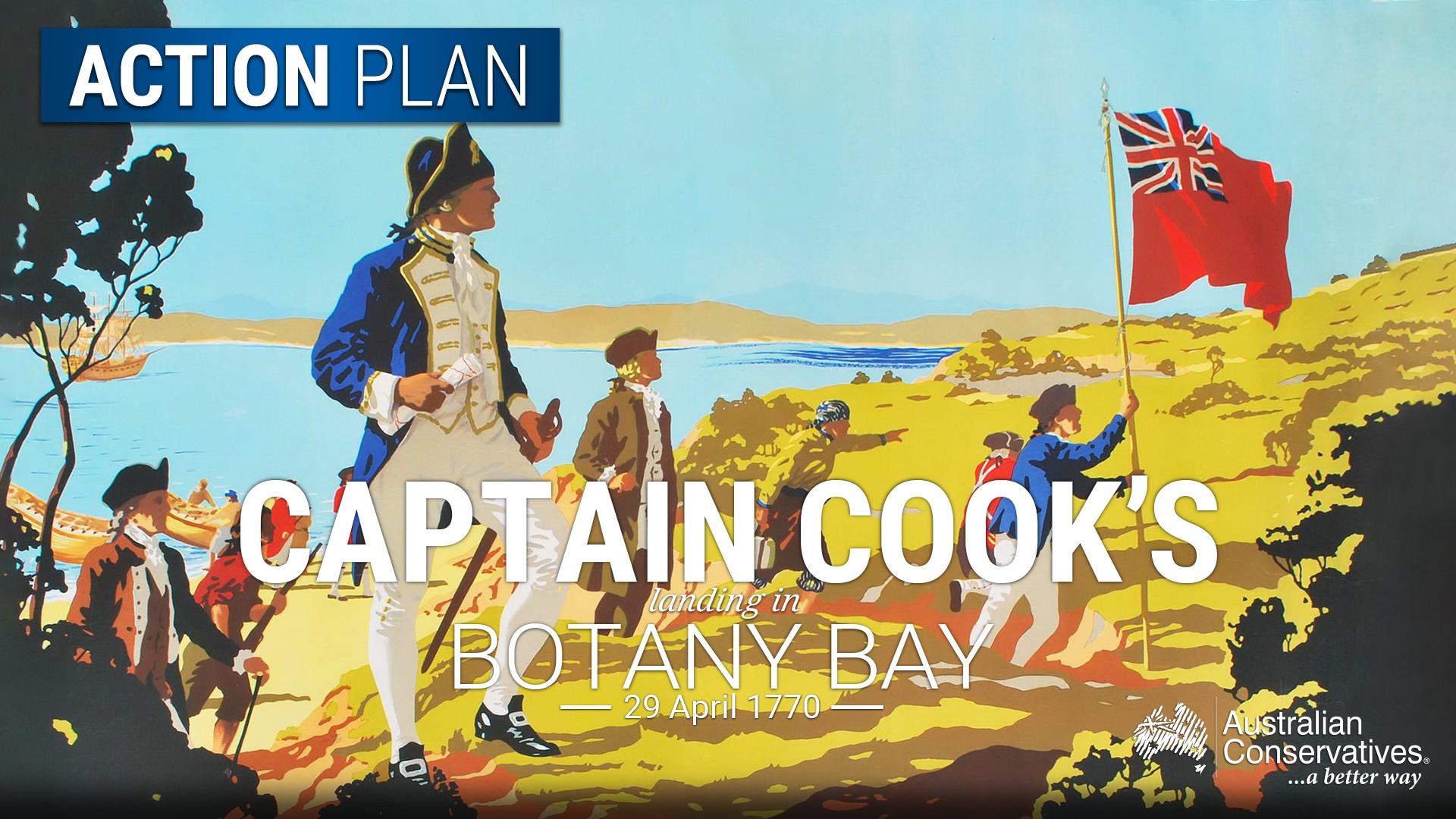 Map Of Australia 1770.Captain Cook S Landing In Botany Bay Australian Conservatives