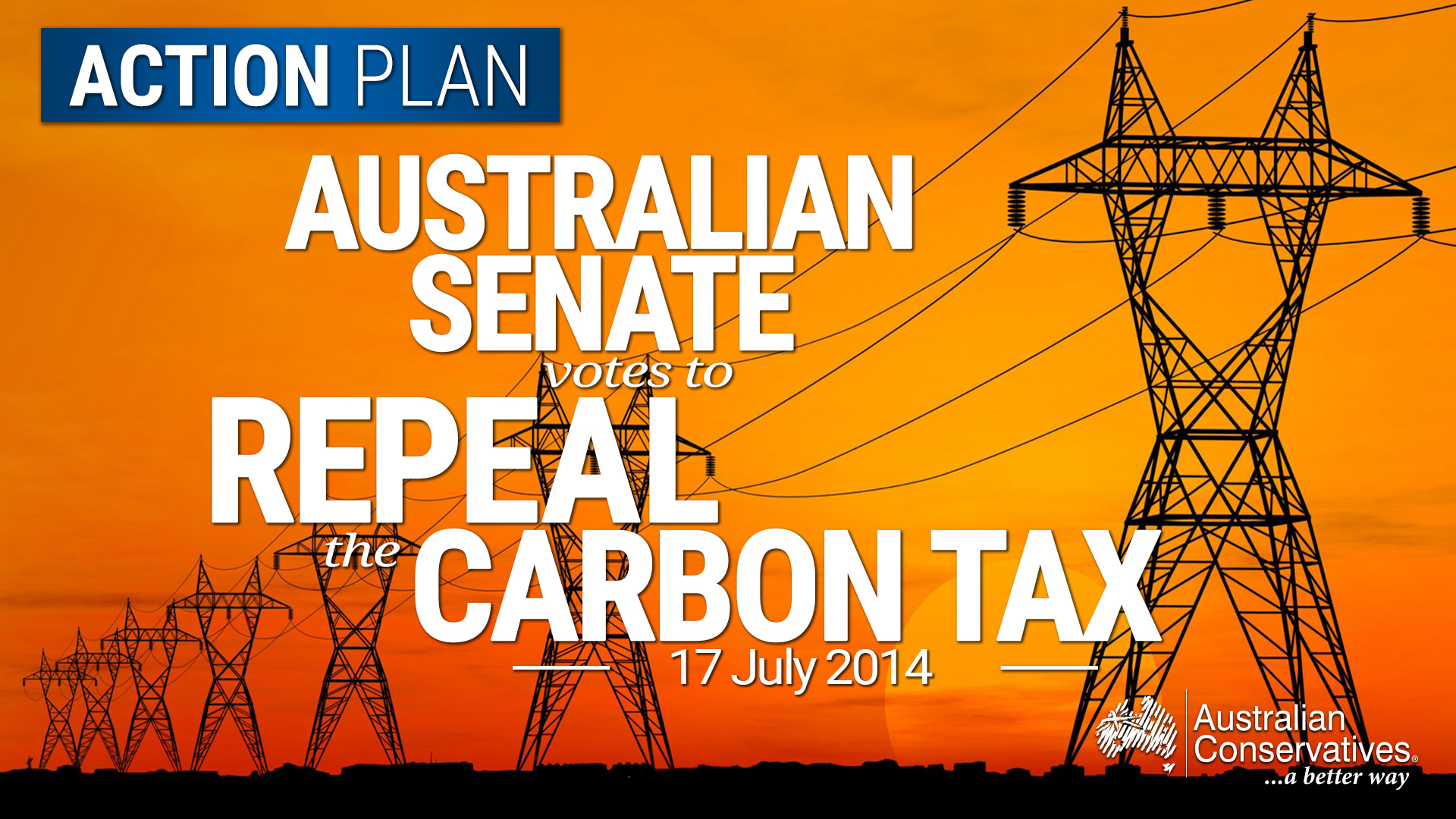 Australian Senate Votes To Repeal The Carbon Tax Power Conservatives