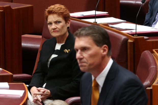 Image result for Images Pauline Hanson and cory Bernardi