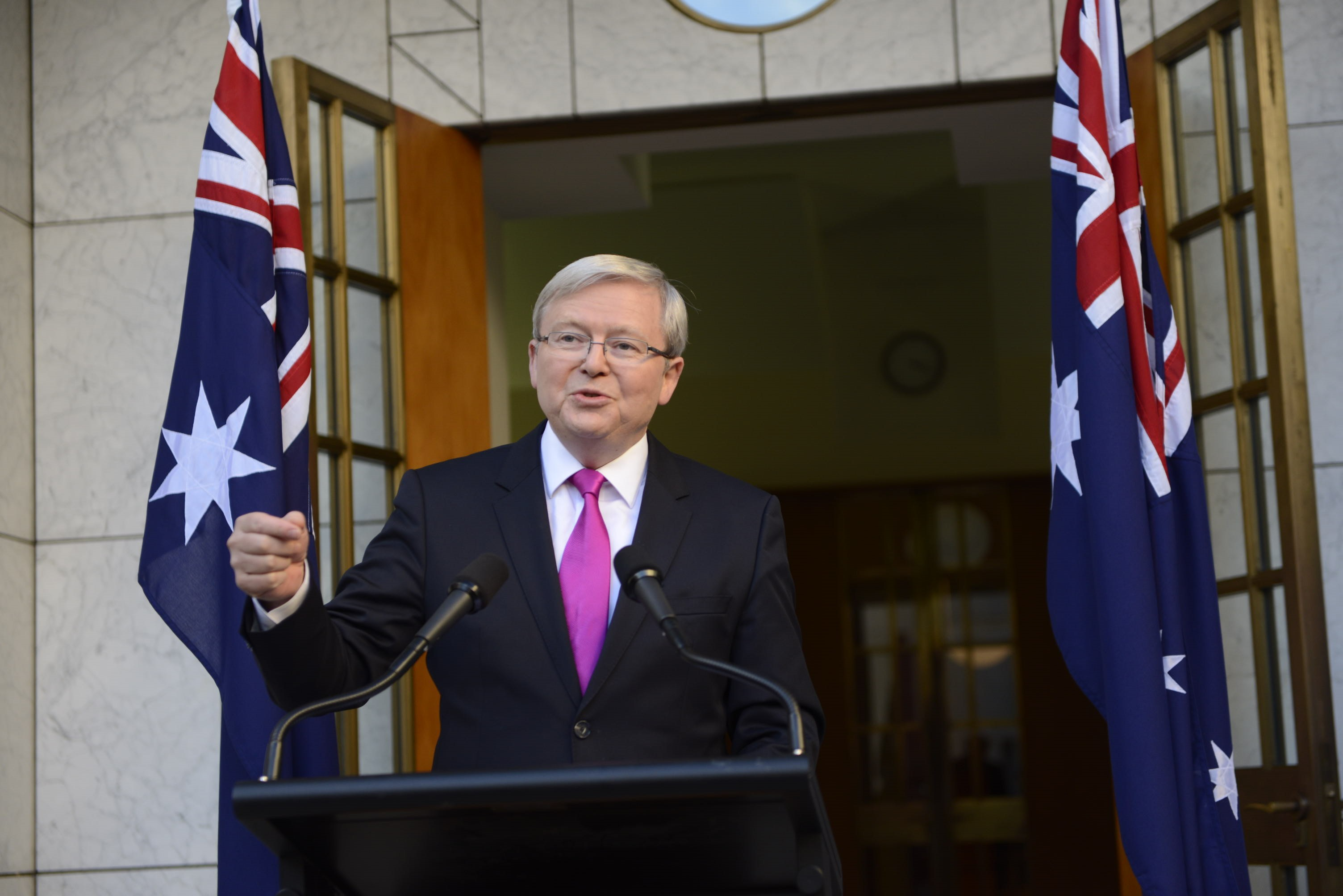 Kevin Rudd announces the election