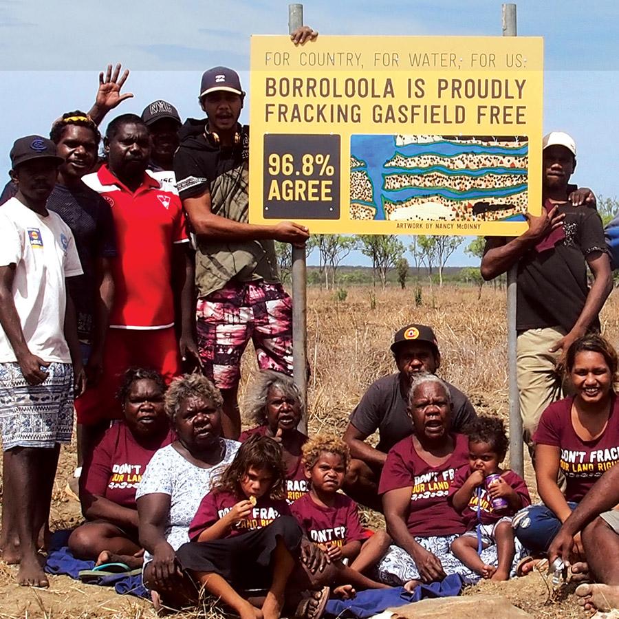 Borroloola declares their country frack free!